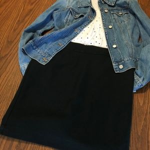 Classic black pencil shirt